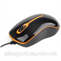 Мышь Gembird MUS-U-004-O USB, black/orange