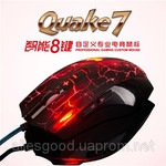Мышь игровая A-Jazz Quake7, 8D, USB, Red LED